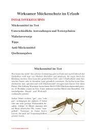 wirksamer mückenschutz im urlaub