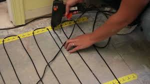 Suntouch Heated Floor Thermostat Manual by Profix Momento Cable Heating System For Radiant Floors Youtube