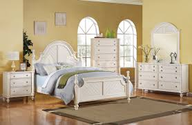 Coastal Lighthouse 5 PC Bedroom Set In Antique White Acme Furn