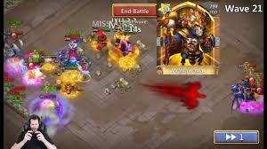 Castle Clash Pumpkin Duke Best Traits by Walla Walla Smashing Ember Army Wave 22 Castle Clash Youtube