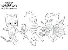 Coloring Pages Pj Masks Elegant Page Mask Owlette