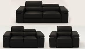 canap 2 places cuir noir deco in 1 ensemble canape 3 2 1 places en cuir noir
