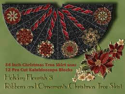 Quilt Kits Holiday Flourish 8 Ribbons And Ornaments Christmas Tree