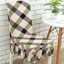 Image Plaid Dining Chairs Chair Cushions