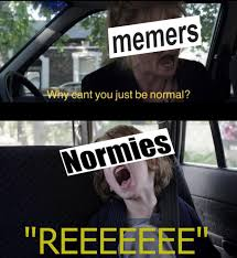 Memers Why Eant You Just Be Normal Normies