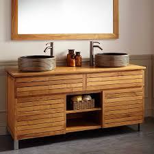 Teak Bathroom Shelving Unit by Custom Teak Bathroom Vanity Ideas Pictures U2014 The Homy Design