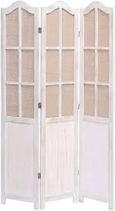 unfadememory raumteiler paravent holzrahmen vintage stil paulownia holz wohnzimmer raumtrenner dekoration schlafzimmer sichtschutz trennwand 105 x