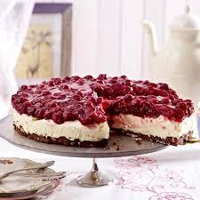 kirsch frischkäse torte mit schoko nougat boden
