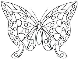 Butterfly Color Page Simple Coloring Pages Free