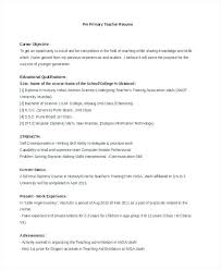 Resume For Nursery Teacher Examples Free Word Documents Download Format