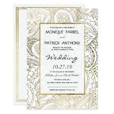 Elegant white faux gold luxury floral Wedding Card