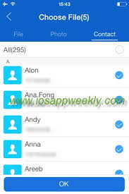 Transfer contacts from iPhone to Android using it app