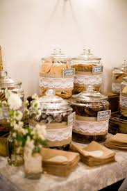 Rustic Burlap Wedding Cake Source Style Me Pretty Cookie Bar Instead Of A Candy With Lace And