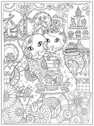 Creative Cats Coloring Book Pages Of Dogs And Horses Printable Cat For Adult Realistic