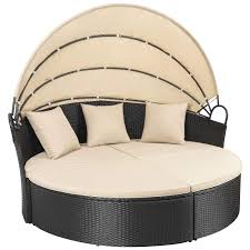 100 Retractable Patio Chairs Amazoncom Homall Outdoor Round Daybed With