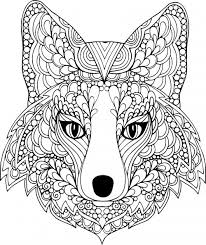 The Face Of Dog Free Coloring Page