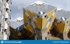 100 Cubic House Piet Blom Rotterdam Holland Editorial Image Image Of