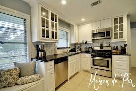 Off White Kitchen Cabinets With Black Countertops Granite We Chose Ceramic Accents