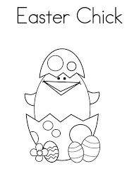 Cute Little Easter Chick Broken Egg Coloring Pages