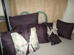 Pottery Barn Decorative Pillows Ebay by Croscill Chambord Cassis Amethyst Purple Diamond U0026 Ruched 5pc