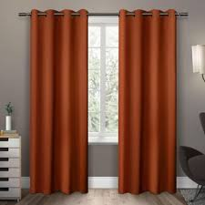 Sound Deadening Curtains Bed Bath And Beyond by Buy Orange Window Curtains From Bed Bath U0026 Beyond
