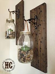 DIY Mason Jar Wall Lanterns