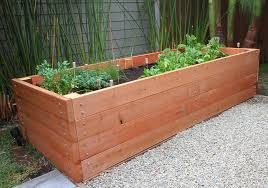 Wonderful Wooden Raised Bed Planters Building A Redwood Planter