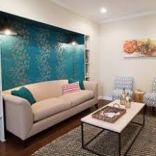 Blue Basement Family Room