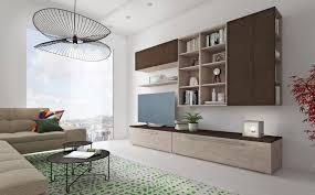 moderne wohnzimmerwand cinzia 270 cm elm