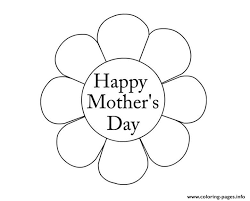 Flower Mothers Day Happy New Coloring Pages Print Download 154 Prints