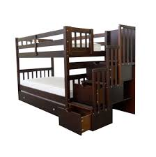 Woodcrest Bunk Beds by Woodcrest Heartland Twin Over Full Stairway Bunk Bed Honey Beds