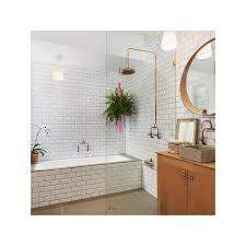 white gloss bevelled subway tile ceramic sydney stock