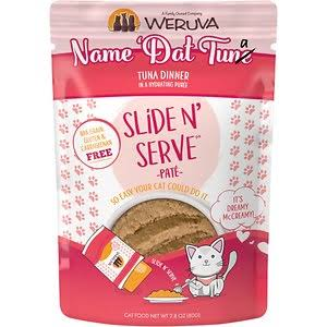 Weruva Slide N' Serve Grain Free Name 'Dat Tuna Tuna Dinner Wet Cat Food Pouch - 2.8 oz, Case of 12