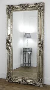 Ella Champagne Silver Ornate Leaner Vintage Floor Mirror 80 X 40 Large