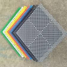 Foldable Garage Plastics Suspended Interlocking Flooring Square PP Tiles PVC Mat