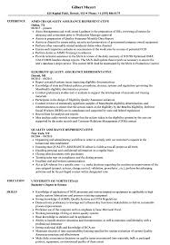 Download Quality Assurance Representative Resume Sample As Image File