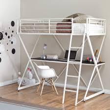 Duro Z Bunk Bed Loft with Desk White