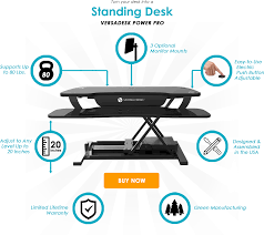 Standing Desk Top Extender Riser by Why Buy Versadesk Sit Stand Desk Riser It U0027s Electric Push Button