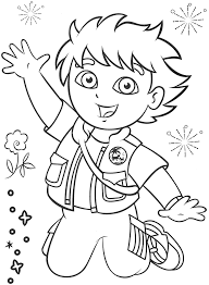 Download Coloring Pages Dora Diego Doa The Explorer Fun Free Party