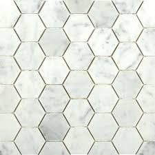 carrara hexagon marble mosaic tiles tilebar