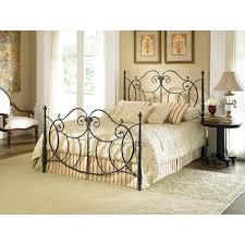 Metal Bed Full by Queen Size Baroque Style Metal Bed In Vintage Charcoal Finish