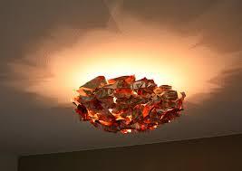 kupfer deckenleuchte meteorit d 2488 leuchten moderne