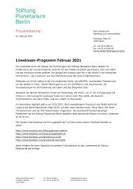livestream programm februar 2021