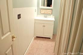Image Of Beadboard Wallpaper Bathroom Designs Using
