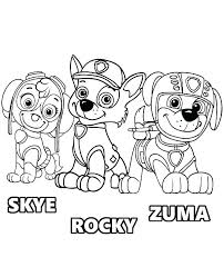 Paw Patrol Coloring Pages Plus Home Page 7 Rocky Ure Chase