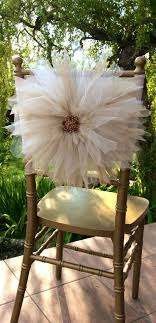 Wedding Chair Decor With Tulle