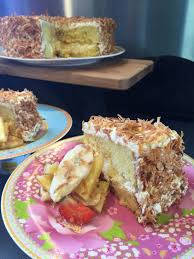 Dairy Free Pina Colada Cake with Vegan Gluten and Egg Free