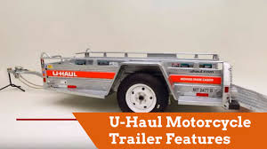 U-Haul Motorcycle Trailer Features - YouTube