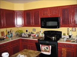Kitchen Black Backsplash Red Accents And Decorating Ideas New Cafe Decor Grey White