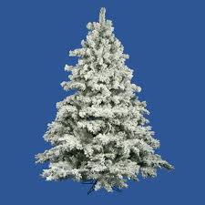 10 Flocked Alaskan Artificial Christmas Tree